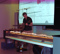 Dr. Binek with Guitar and flames demonstration